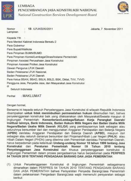 Halaman 1 Maklumat LPJK 8/2011