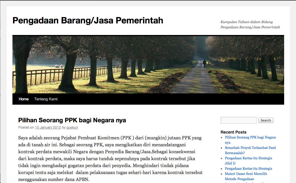 website pengadaan.org