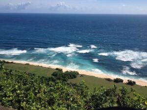 Pemandangan dari atas tebing pantai Nyang-Nyang